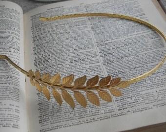 Bridal Headpiece Hair Greek Headband Wedding hair wreath Fascinator Leaf headband greek goddess vintage inspired wedding headpiece