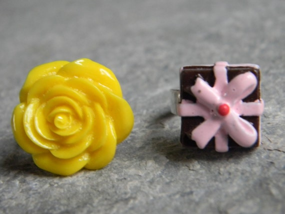 Flower Girl Ring Wedding Jewelry Bridesmaids Accessories