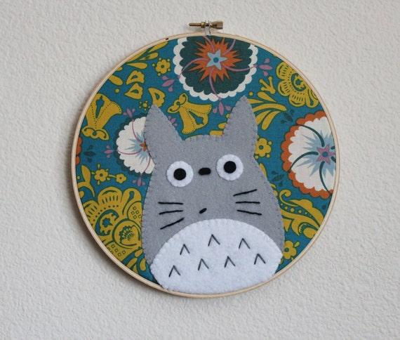 Totoro Hoop Art
