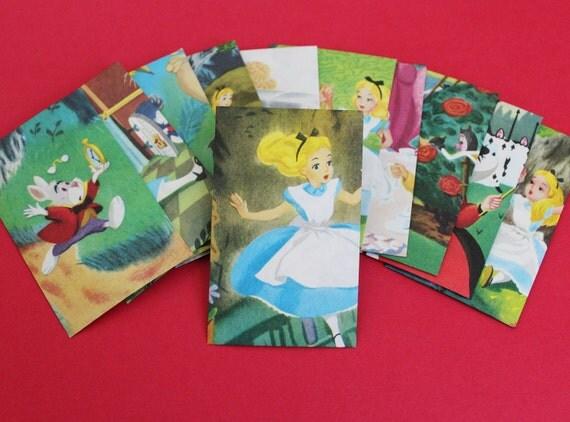 Alice in Wonderland Mini Envelopes