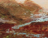 Abstract Landscape Painting Contemporary  Square   Carmel California
