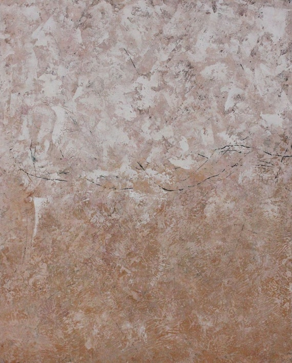 Original Painting Abstract Oil Cold Wax 16 x 20   Traces of Love  Swalla Studio Blush  coral sparkle