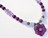 Precious Violet flower necklace