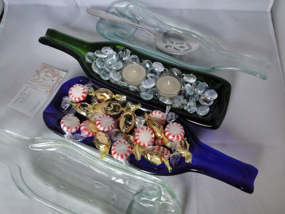 Wine Bottle Serving Dish Spoon Rest
