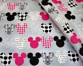 1 Meter SDLP Cotton Fabric - Mickey Mouse/Art Decor/39 Inches X 57 Inches