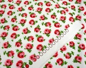 0.5 Meter Cath Kidston Cotton Canvas - Small Roses on White/19.5 Inches X 56 Inches