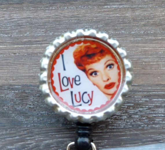 I love Lucy badge clip