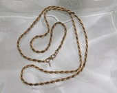 Signed Monet Vintage Braided Gold Necklace
