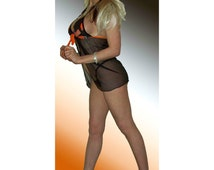 NFL Cleveland Browns Lingerie Negligee Babydoll Sexy Teddy Set with Matching G-String