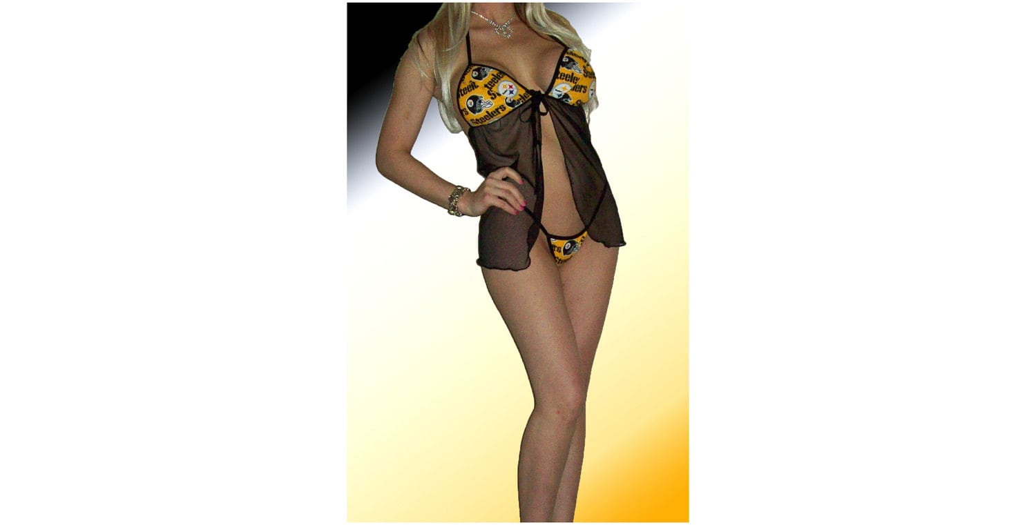 NFL Pittsburgh Steelers Lingerie Negligee by JDCreationsCaLLC