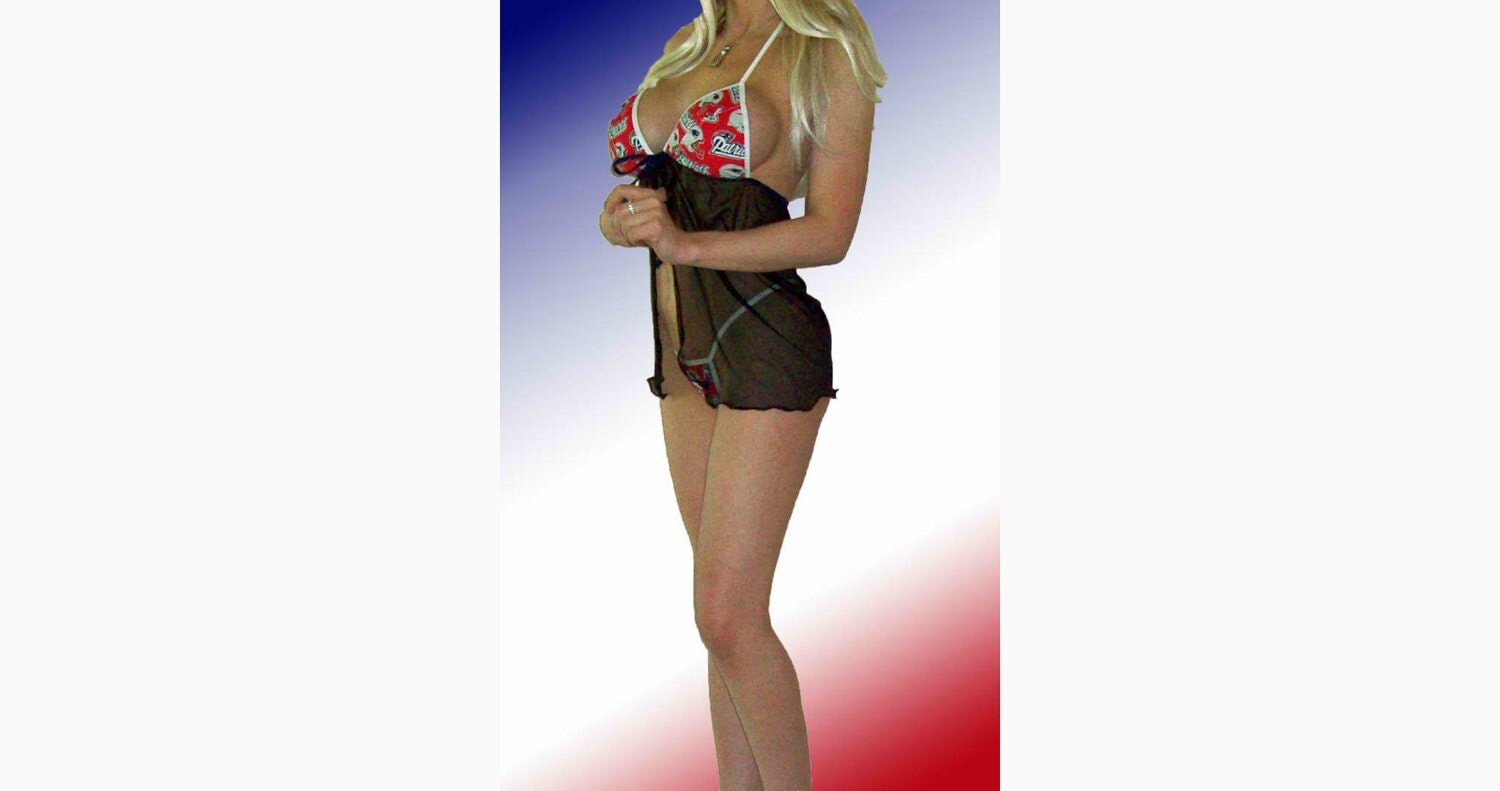 NFL New England Patriots Lingerie Negligee Babydoll Sexy Teddy