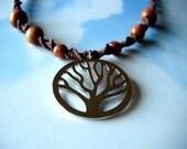 Tree Brown Hemp Necklace