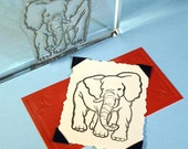 Elephant Clear Polymer Rubber Art Stamp