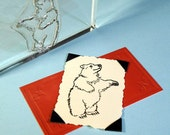 Bear Clear Polymer Rubber Stamp