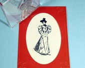 Victorian Lady in Fine Fashion Clear Polymer Rubber Stamp