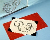 Squirrel Clear Polymer Rubber Stamp