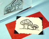 Mushroom Clear Polymer Rubber Stamp