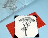 Bare Tree Clear Polymer Rubber Stamp