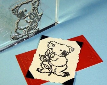 Koala Bear Clear Polymer Rubber Stamp