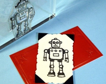 Robot I Clear Polymer Rubber Stamp