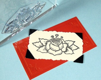 Rose Clear Polymer Rubber Stamp tattoo