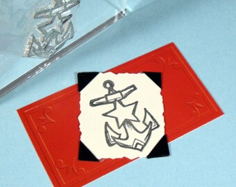 Anchor Star Clear Polymer Rubber Stamp