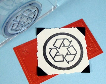 Recycle Clear Polymer Rubber Stamp Eco Green
