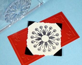 Retro Starburst Clear Polymer Rubber Stamp