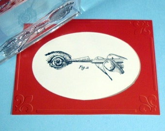 Early Eye Surgery Clear Polymer Rubber Stamp