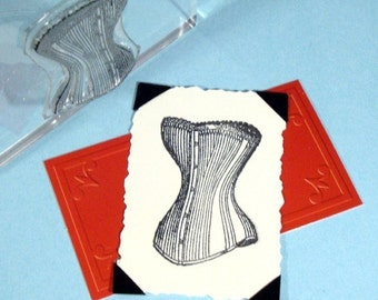 Victorian Corset Clear Polymer Rubber Stamp