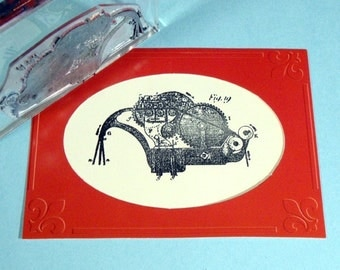 Machine III Clear Polymer Rubber Stamp