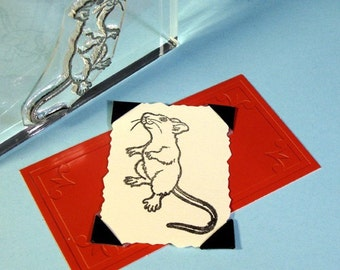 Cute Mouse Clear Polymer Rubber Stamp