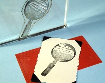 Magnifying Glass Clear Polymer Rubber Stamp