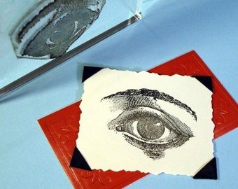 Human Eye Clear Polymer Rubber Stamp