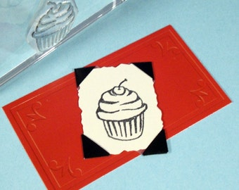 Cupcake Clear Polymer Rubber Stamp