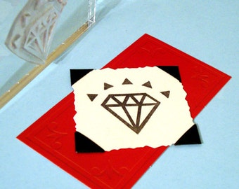 Sparkling Diamond Clear Polymer Rubber Stamp