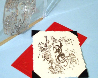 Monkey in a Tree Clear Polymer Rubber Stamp