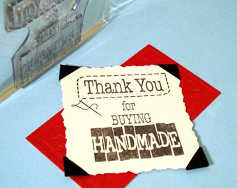 Thank You for Buying Handmade Clear Polymer Rubber Stamp