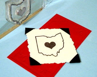I Heart Ohio Clear Polymer Rubber Stamp