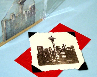 Seattle Skyline Clear Polymer Rubber Stamp space needle