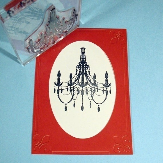 Chandelier Clear Polymer Rubber Stamp