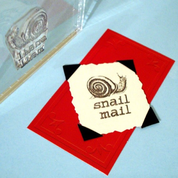 Snail Mail Clear Polymer Rubber Stamp