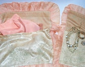 Antique Embroidered Silk Lingerie Bags