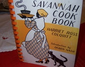 The Savannah Cookbook - Harriet Ross Colquitt - First Edition - 1933 - Binder Paperback  (Aunt Jemima - Creole - Southern Cooking - Sambo)