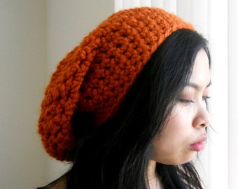 Giants orange beanie, oversized, chunky unisex.