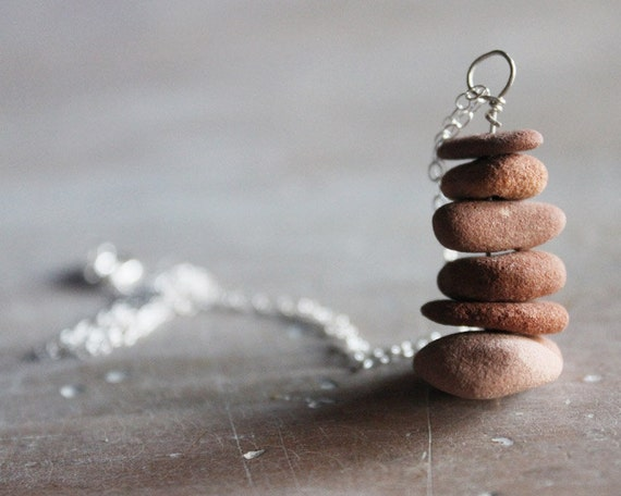 Sedona Rock Cairn Necklace - creekstones and silver