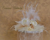 Cake Top cake topper Feathered cake topper Champange cake topper