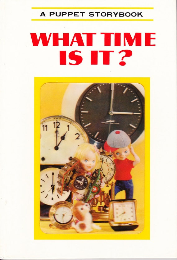 Vintage Puppet Storybook - What Time Is It - Il by Tadasu Izawa