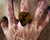 Zombie Guitar Pick Ring I