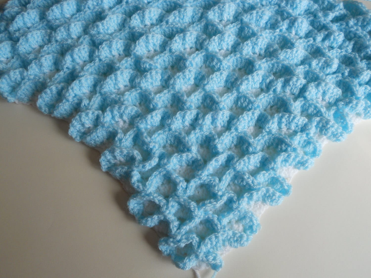 Free Crochet Twin Blanket Pattern : Double Shells Afghan Blanket Crochet Pattern pdf by ...